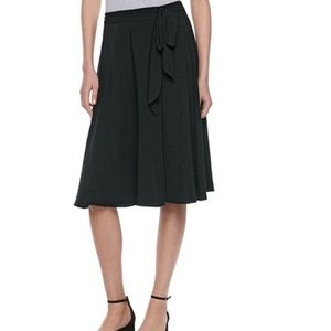 Elle faux-wrap midi skirt